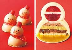 スノーマンケーキ