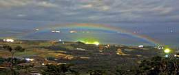 幸せの虹『月虹』